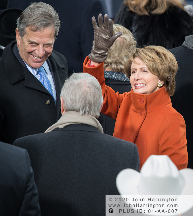 Rep. Nancy Pelosi and Paul Pelosi at the 57th Presidential Inauguration of President Barack Obama at the U.S. Capitol Building in Washington, DC January 21, 2013.