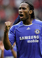 Photo: Paul Thomas.<br /> Liverpool v Chelsea. The FA Barclays Premiership. 19/08/2007.<br /> <br /> Chelsea's Didier Drogba thanks their travelling fans.