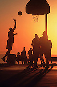 Basketball At Main Beach In Laguna Beach California