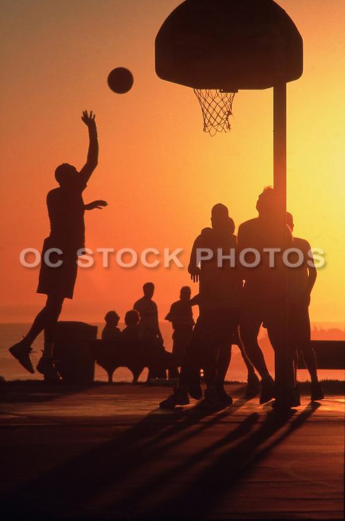 Basketball At Main Beach In Laguna Beach California