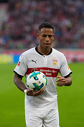 September 16, 2017 - Stuttgart, Germany - Stuttgarts Dennis Aogo before a corner kick / Bundesliga match VfB Stuttgart vs VfL Wolfsburg, September 16, 2017. (Credit Image: © Bartek Langer/NurPhoto via ZUMA Press)
