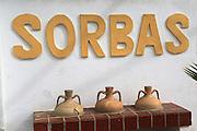 Sign for village of Sorbas in Almeria, Spain