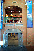 The main entrance to Cleveland Aquarium is located in the ower level of the Power House building on the West side of The Flats.