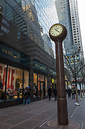 Street clock at 53rd street  and Madison Avenue