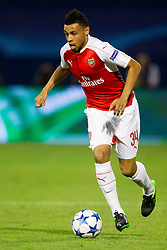 Francis Coquelin #34 of Arsenal F.C. during football match between GNK Dinamo Zagreb, CRO and Arsenal FC, ENG in Group F of Group Stage of UEFA Champions League 2015/16, on September 16, 2015 in Stadium Maksimir, Zagreb, Croatia. Photo by Urban Urbanc / Sportida