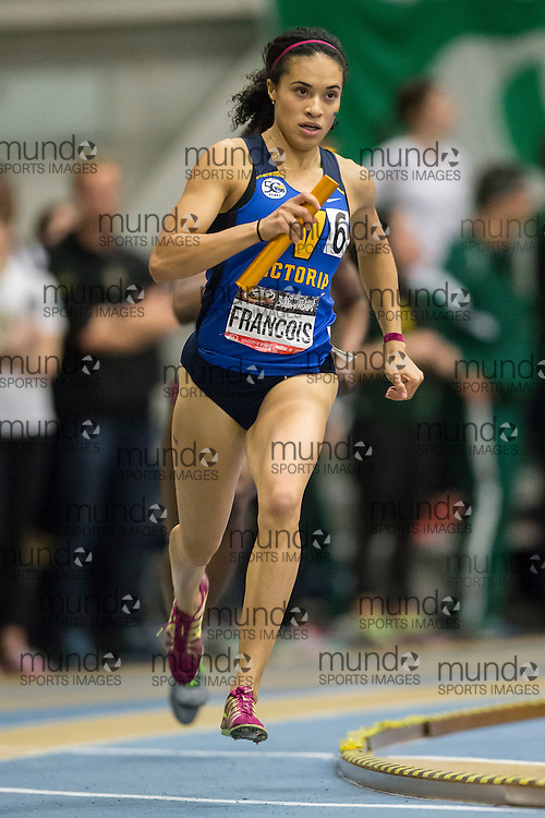 Windsor, Ontario ---2015-03-14--- competes in the  at the 2015 CIS Track and Field Championships in Windsor, Ontario, March 14, 2015.<br /> GEOFF ROBINS/ Mundo Sport Images