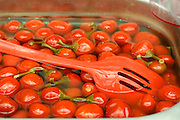 red marinated tomatoes in market