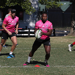S'busiso Nkosi of the Cell C Sharks during the cell c sharks training session at Jonsson Kings Park Stadium,Durban.South Africa. 08,05,2018 Photo by Steve Haag)