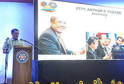 July 5, 2018 - Quezon City, Metro Manila, Philippines - LTO Assistant Secretary Edgar C. Galvante while introducing DOTr Secretary Arthur P. Tugade who graces the event. (Credit Image: © Robert Oswald Alfiler/Pacific Press via ZUMA Wire)
