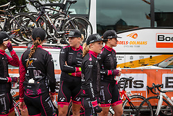 Riders of the Regioteam Zuid Holland waiting for the sign-on at the Holland Ladies Tour, Zeddam, Gelderland, The Netherlands, 1 September 2015.<br /> Photo: Pim Nijland / PelotonPhotos.com