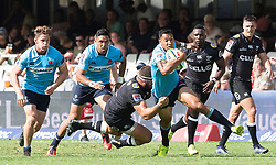 Durban. 030318. Isreal Folau of the Waratahs  during the Super Rugby match between Cell C Sharks and Waratahs at Kings Park on March 03, 2018 in Durban, South Africa. Picture Leon Lestrade/African News Agency/ANA