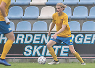 FODBOLD: Kristoffer Arndal (Ølstykke FC) under kampen i DBU Pokalens Indledende runde mellem Ølstykke FC og Lundtofte Boldklub den 21. maj 2019 på Ølstykke Stadion. Foto: Claus Birch