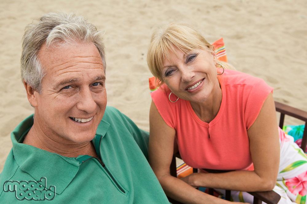 Couple at beach (portrait)