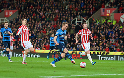 STOKE-ON-TRENT, ENGLAND - Monday, April 18, 2016: Tottenham Hotspur's Harry Kane scores the third goal against Stoke City during the FA Premier League match at the Britannia Stadium. (Pic by David Rawcliffe/Propaganda)