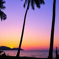 Sunset at Batu Ferringhi beach, Penang, Malaysia