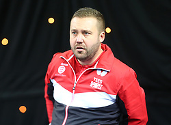 February 23, 2018 - London, England, United Kingdom - Marcus SJOBERG Coach of England.during 2018 International Table Tennis Federation World Cup match between Liam PITCHFORD of England  against Mohamed EL-BEIALI of Egypt at Copper Box Arena, London  England on 23 Feb 2018. (Credit Image: © Kieran Galvin/NurPhoto via ZUMA Press)