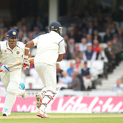 India's Ravichandran Ashwin running between the wicket after runs  during the first day of the Investec 5th Test match between England and India at the Kia Oval, London, 15th August 2014 © Phil Duncan | SportPix.org.uk