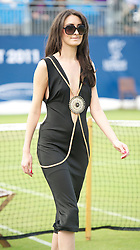LIVERPOOL, ENGLAND - Thursday, June 16, 2011: A fashion show on centre court on day one of the Liverpool International Tennis Tournament at Calderstones Park. (Pic by David Rawcliffe/Propaganda)