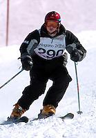 n/z.: Damian Valenzky (USA) Olimpiady Specjalne Igrzyska Zimowe podczas zawodow na stoku Inchinose w Yamanouchi - Japonia , Nagano , 28-02-2005 , fot.: Adam Nurkiewicz / mediasport..Damian Valenzky (USA) Special Olympics Winter Games during alpine skiing competition at Inchinose in Yamanouchi - February 28, 2005 , Japan , Nagano ( Photo by Adam Nurkiewicz / mediasport )