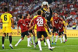18.08.2011, AWD-Arena, Hannover, GER, EL,  Play Off, Hannover 96 (GER) vs FC Sevilla (ESP), im Bild Ron-Robert Zieler (Hannover #1) kann den Ball festhalten .// during the match from GER, EL, Play Off,  Hannover 96 (GER) vs FC Sevilla (ESP) on 2011/08/18, AWD-Arena, Hannover, Germany. .EXPA Pictures © 2011, PhotoCredit: EXPA/ nph/  Schrader       ****** out of GER / CRO  / BEL ******