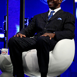06 February, 2010: Michael Irvin on stage during a press conference for the Pro Football Hall of Fame Class of 2010 Enshrinees held at the Greater Ft. Lauderdale/Broward County Convention Center in Fort Lauderdale, Florida.