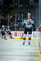 KELOWNA, CANADA - FEBRUARY 17:  Braydyn Chizen #22 of the Kelowna Rockets skates during warm up against the Edmonton Oil Kings on February 17, 2018 at Prospera Place in Kelowna, British Columbia, Canada.  (Photo by Marissa Baecker/Shoot the Breeze)  *** Local Caption ***