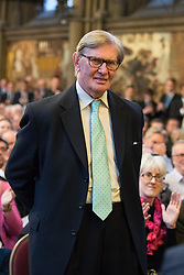 © Licensed to London News Pictures . 02/10/2017. Manchester, UK. BILL CASH MP at a fringe , right-wing Bruges Group event at Manchester Town Hall during the second day of the Conservative Party Conference at the Manchester Central Convention Centre . Photo credit: Joel Goodman/LNP