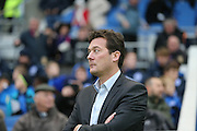 Charlton Athletic interim head coach Karel Fraeye during the Sky Bet Championship match between Brighton and Hove Albion and Charlton Athletic at the American Express Community Stadium, Brighton and Hove, England on 5 December 2015.