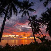 Sunrise at Kandui Resort, Mentawais Islands, Indonesia.