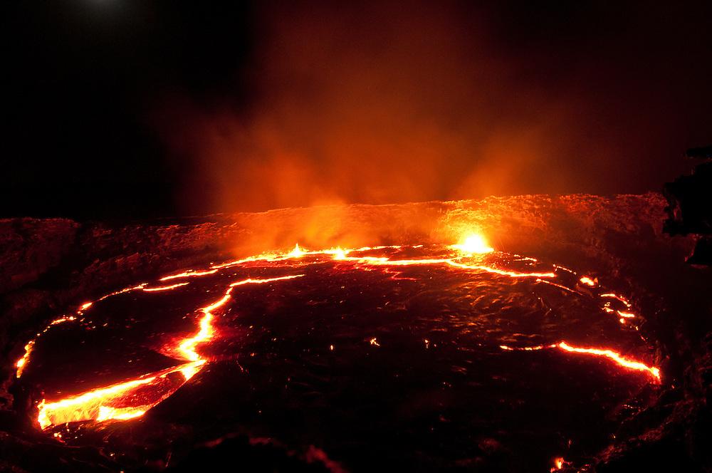 Erta Ale volcano, Danakil Depression, Ethiopia.