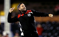 Bristol City head coach Lee Johnson celebrates the win over Fulham in the EFL Cup - Mandatory by-line: Robbie Stephenson/JMP - 21/09/2016 - FOOTBALL - Craven Cottage - Fulham, England - Fulham v Bristol City - EFL Cup