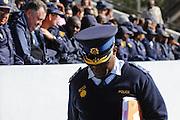 Een politiecommissaris brieft het politiecorps van de Oost Kaap tijdens voorbereidingen van het WK in Zuid Afrika.