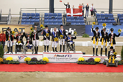 Team podium<br /> 1 GBR<br /> 2 GER<br /> 3 DEN<br /> Alltech FEI World Equestrian Games <br /> Lexington - Kentucky 2010<br /> © Dirk Caremans