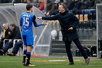 (L-R) *Guus Til* of AZ Alkmaar, coach *John van den Brom* of AZ Alkmaar