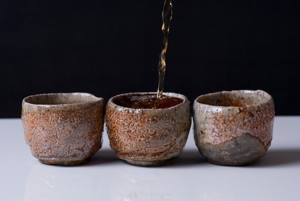 Korean earthenware tea cups sold in Seoul, South Korea.