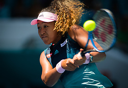 March 22, 2019 - Miami, FLORIDA, USA - Naomi Osaka of Japan in action during the second-round at the 2019 Miami Open WTA Premier Mandatory tennis tournament (Credit Image: © AFP7 via ZUMA Wire)