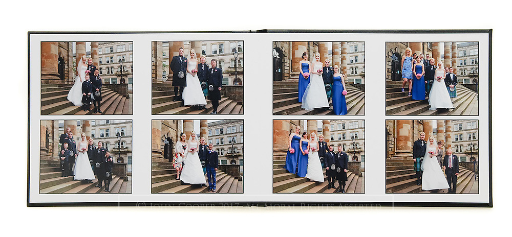 Album displaying photography from a wedding at St Andrews In The Square in Glasgow.