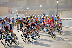 Amalie Dideriksen (DEN) with two laps to go at the 134 km Elite Women's Road Race, UCI Road World Championships 2016 on 15th October 2016 in Doha, Qatar. (Photo by Sean Robinson/Velofocus).