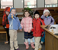 Holy Trinity Catholic School Kindergarten students bring treats to City Hall employees as a thank you for their service to our community on Monday, February 1, 2010.