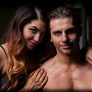 Bodybuilding couple