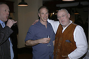 Louis Greig, Philip Oppenheim and David Kirke, Simon Keeling 50th Birthday. Cabinet War Rooms, Cabinet War Rooms, Clive Steps, King Charles St, W1 23 January 2007.  -DO NOT ARCHIVE-© Copyright Photograph by Dafydd Jones. 248 Clapham Rd. London SW9 0PZ. Tel 0207 820 0771. www.dafjones.com.