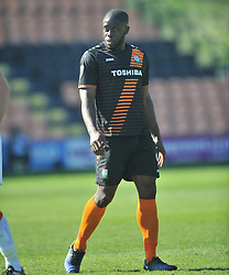 JOHN AKINDE BARNET, Barnet v Luton Town EFL Sky Bet League 2 The Hive, Saturday 8th April 2017, Score 0-1<br /> Photo:Mike Capps