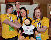 25/03/2013  GMIT Students Grace McEwen,  Joe O'Connor Aoife Tully and Edel Power  at the USI (Union of Students in Ireland) Congress 2013 in the Shearwater Hotel in Ballinasloe, Co. Galway.   Picture:Andrew Downes.