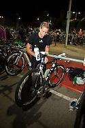 Anna CLEAVER (AUS) Prepares Transition In The Pre Dawn. Ironman Asia Pacific Championship Melbourne. Triathlon. Frankston And St Kilda, Melbourne, Victoria, Australia. 24/03/2013. Photo By Lucas Wroe