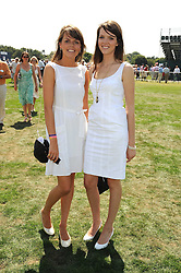 Left to right, sisters ELEANOR CHAPMAN and GENEVIEVE CHAPMAN at the Cartier International Polo at Guards Polo Club, Windsor Great Park on 27th July 2008.<br /> <br /> NON EXCLUSIVE - WORLD RIGHTS