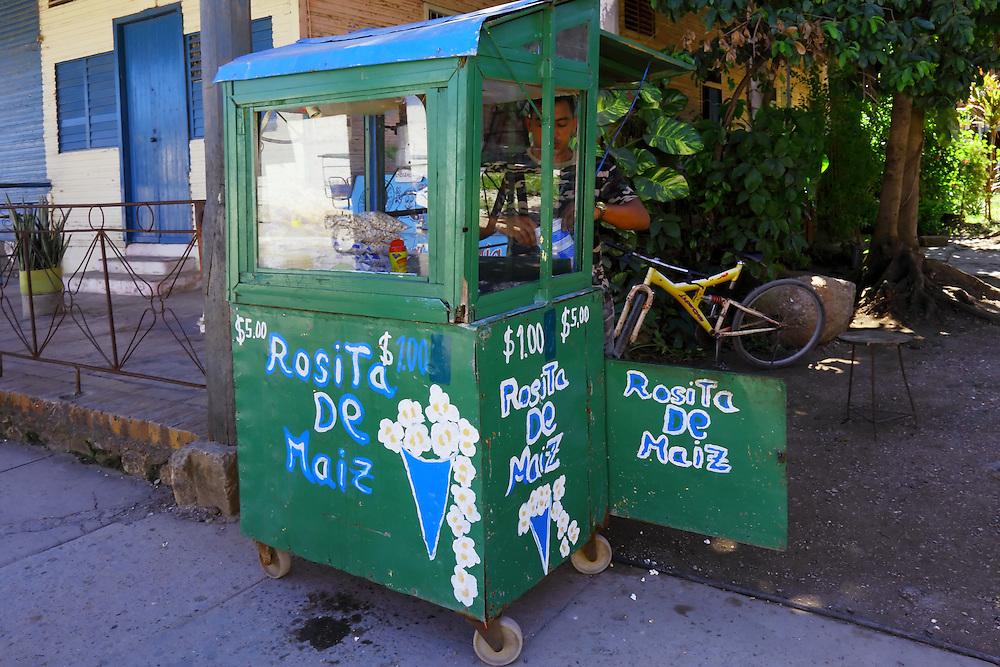Pop corn stand in Niquero, Granma Province, Cuba.