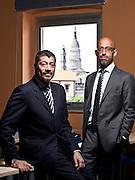 Giorgio Stefanelli (giacca grigia) e Carlo della Piana (giacca blu) di Amnol Chimica Biologica con sede a Novara. L'azienda si occupa di ricerca, sviluppo, progettazione e commercializzazione di integratori alimentari, dermocosmetici, alimenti a fini medici speciali e dispositivi medici.