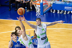 Matej Rojc of Slovenia and Ziga Dimec of Slovenia during basketball match between National team of Slovenia and Italy in First Round of U20 Men European Championship Slovenia 2012, on July 12, 2012 in Domzale, Slovenia.  (Photo by Vid Ponikvar / Sportida.com)