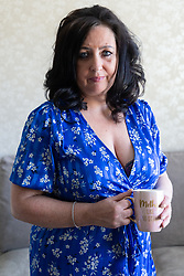 Natasha Bambrough, 48, from Ruislip in west London went to Turkey to have a tummy-tuck operation and subsequently gained an infection leading to necrosis that required three operations over a two week period, including a skin graft. London, May 14 2019.