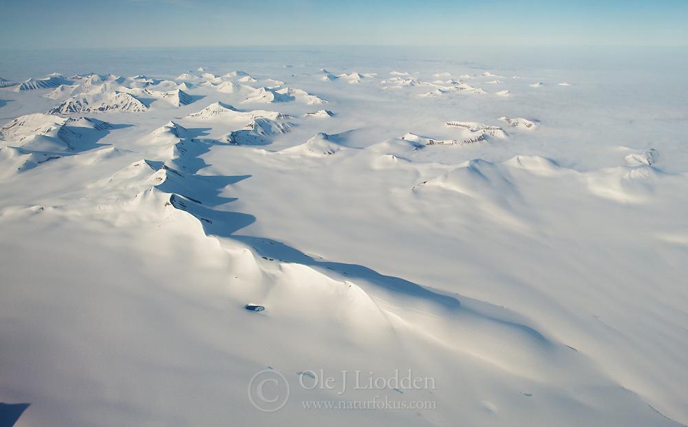 Aerial photo of Spitsbergen, Svalbard